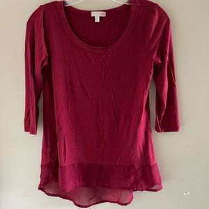 GB Soft Red Top with Chiffon Bottom